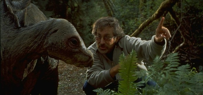 spielberg-directing-a-dinosaur