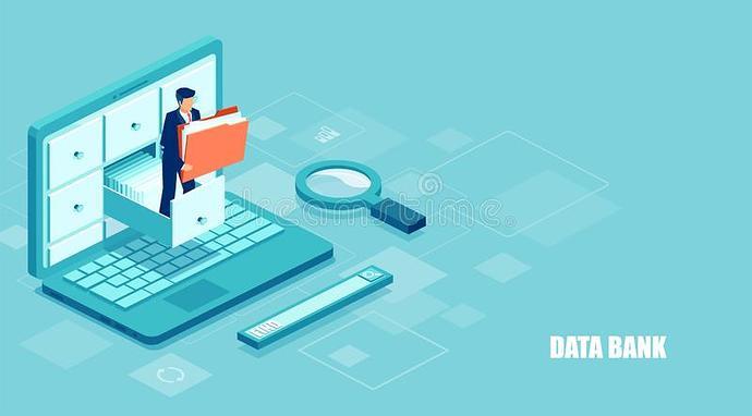 isometric-concept-database-vector-businessman-holding-folder-documents-archive-managing-online-digital-137942080