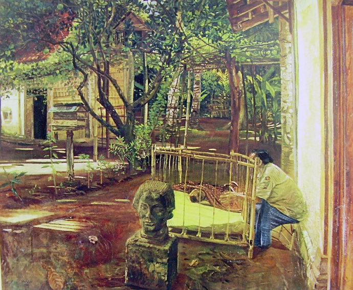 """""""Didalam kampung"""" by S.Sudjojono"""