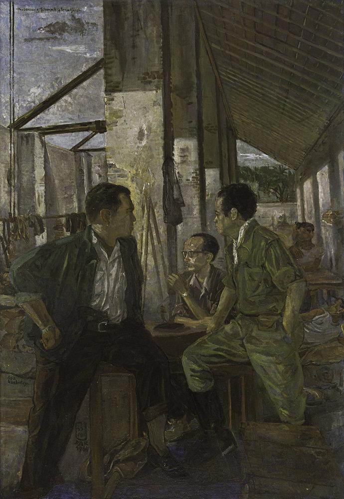"""""""Pertemuan di Tjikampek yang Bersedjarah"""" by S. Sudjojono"""