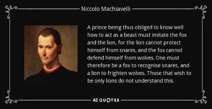 quotes machiavelli