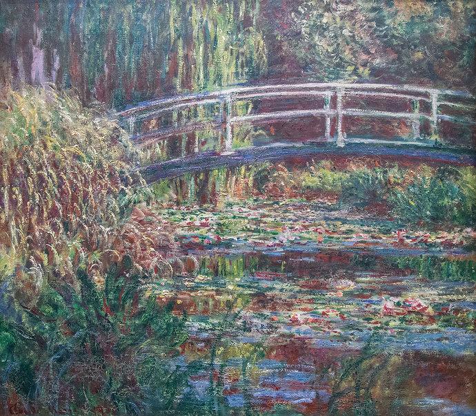 Lukisan Claude Monet: Le Bassin aux nymphéas, Harmonie rose, 1900