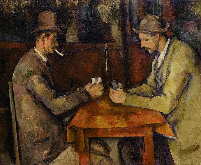 Lukisan Paul Cezanne dengan judul *Card Players (5th version)