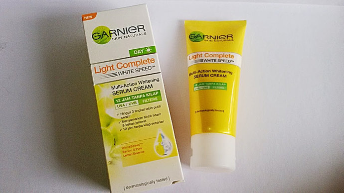 Cocokkah Garnier light complete shine free serum cream ...