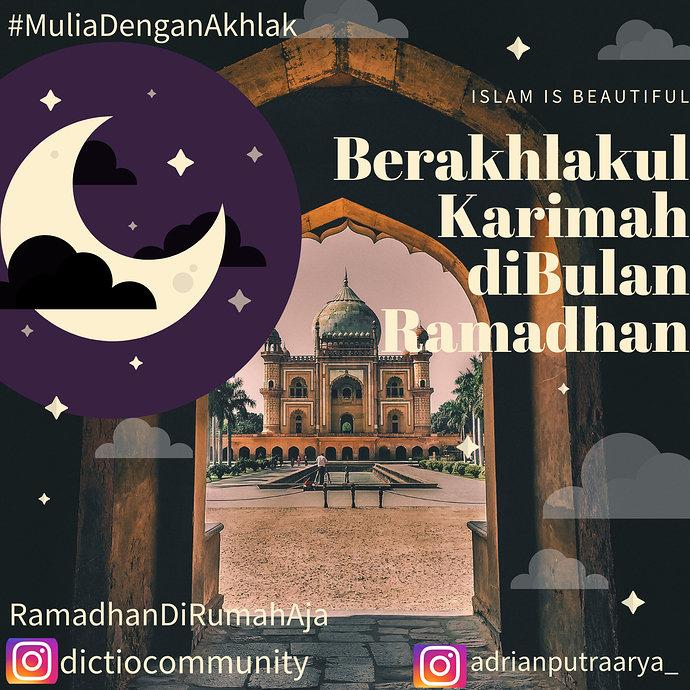 Berakhlakul Karimah dibulan Ramadhan