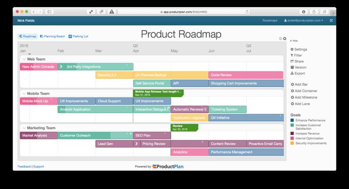 single-product-roadmap