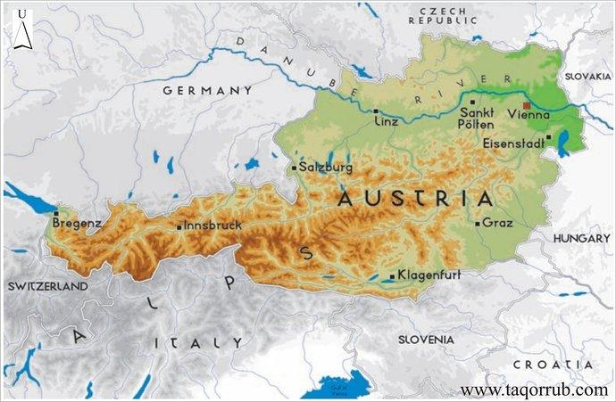 Peta Negara Austria
