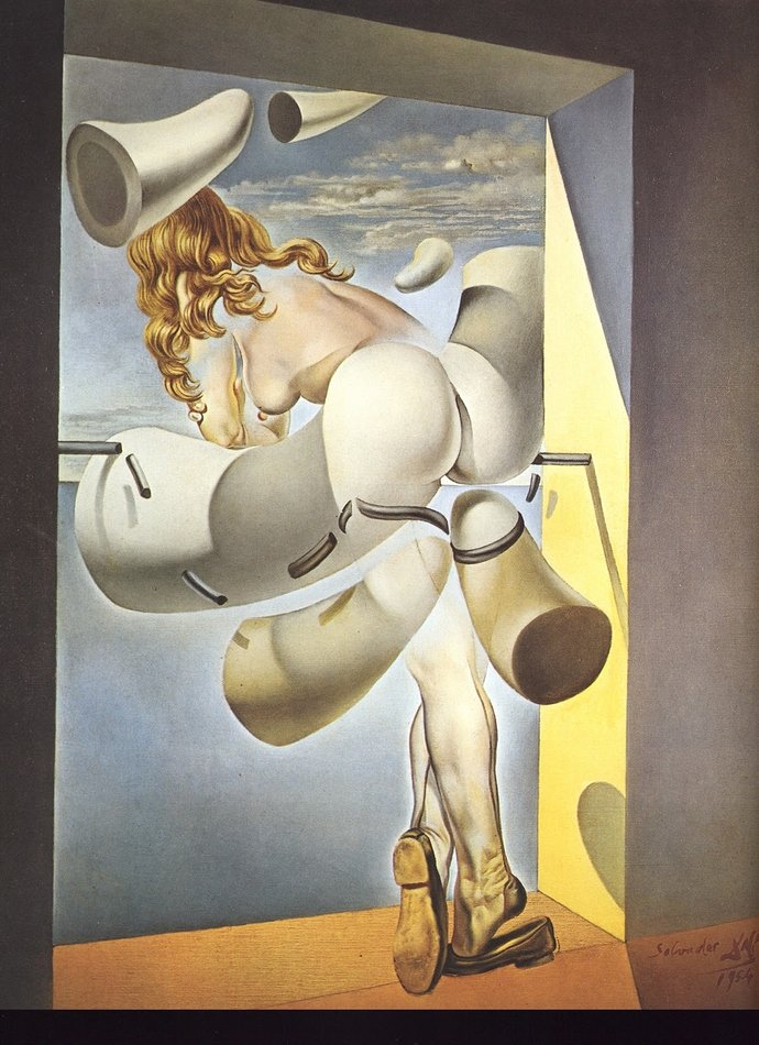 Salvador Dali, Young Virgin Auto-Sodomized by the Horns of Her Own Chastity