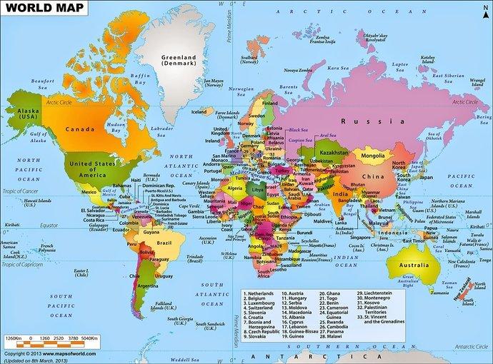 peta dunia high resolution