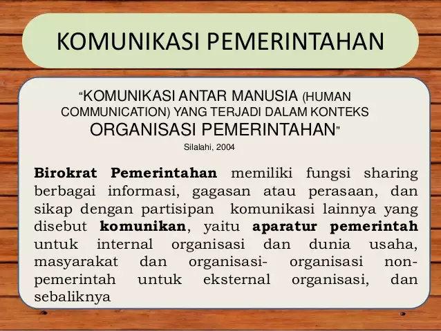 Apa yang dimaksud dengan komunikasi pemerintahan ...