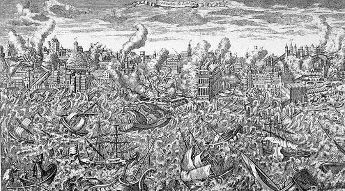 91+ Lukisan Pemandangan Bencana Alam Gratis