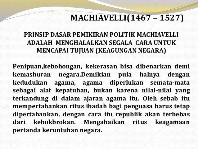 Kekuasaan Politik Menurut Machiavelli