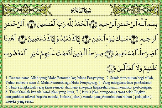 Surah Al Fatihah Tafsir Ibnu Al Qayyim Agama Dictio