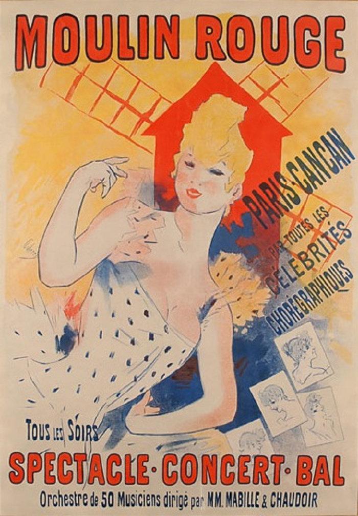 Moulin Rouge, Paris, Cancan, 1890