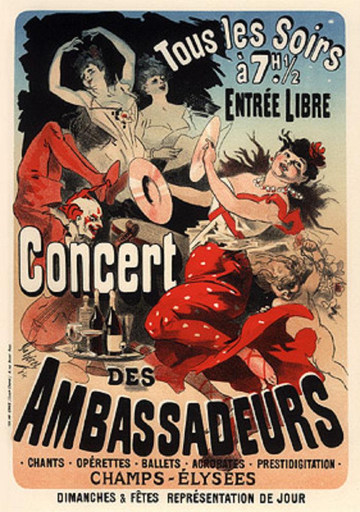Concert des Ambassadeurs, Champs-Élysées, 1900