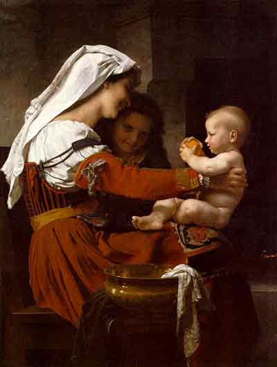 Maternal Admiration by William-adolphe