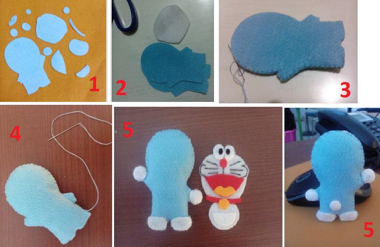 Boneka Doraemon Dari Kain Flanel Seni Kriya Dictio Community