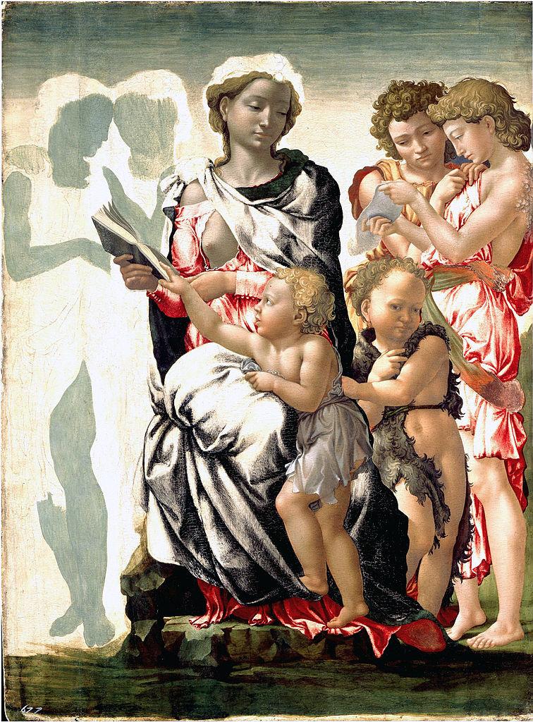 Michaelangelo Buonarroti, The Torment of Saint Anthony, Tempera on panel, 105 cm × 76 cm, 1497, at National Gallery, London