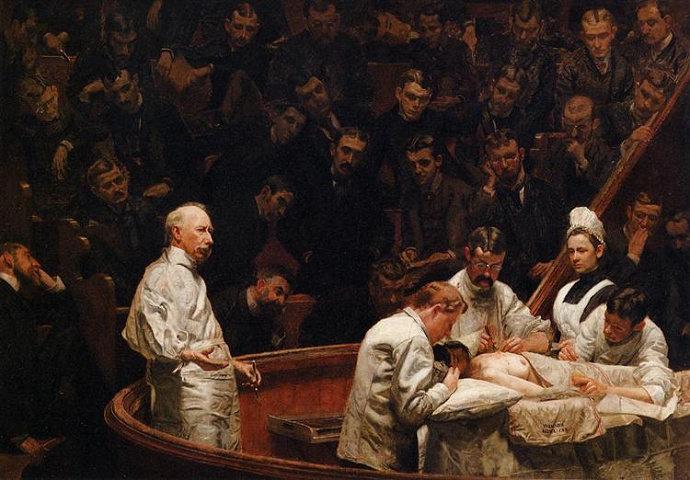 lukisan The Agnew Clinic (1875). Thomas Eakins.