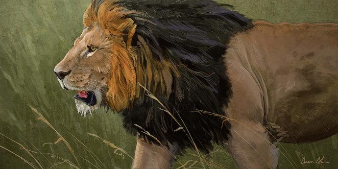 Lukisan singa