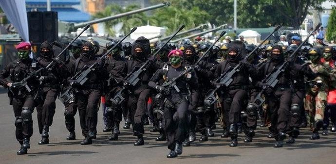 pasukan militer Indonesia