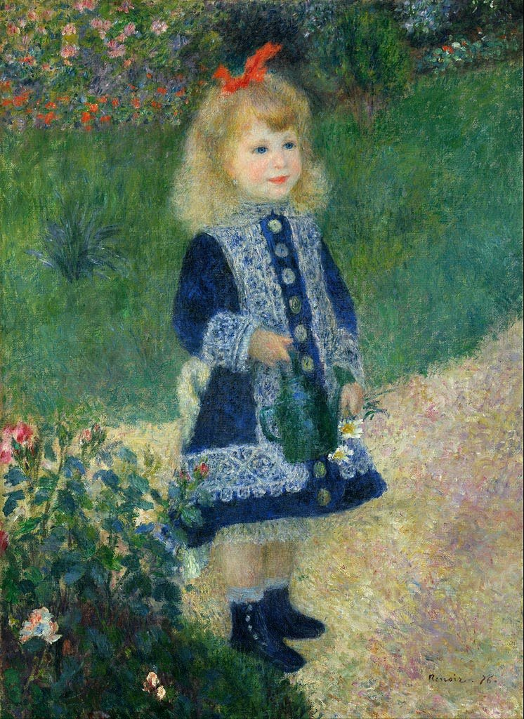 Pierre-Auguste Renoir, 100 x 73cm, A Girl with a Watering Can, oil on canvas, 1876
