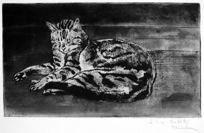 Chat On The Floor, Chat Sur Le Plancher, 1902
