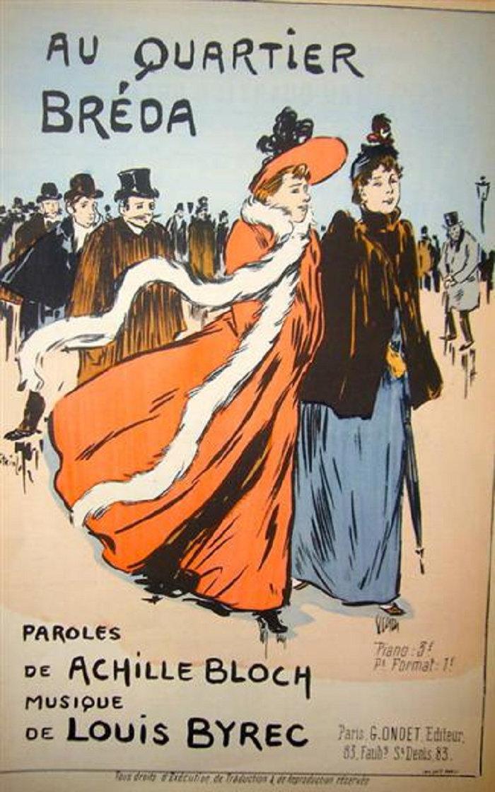Au Quartier Breda, Theophile Steinlen, 1893