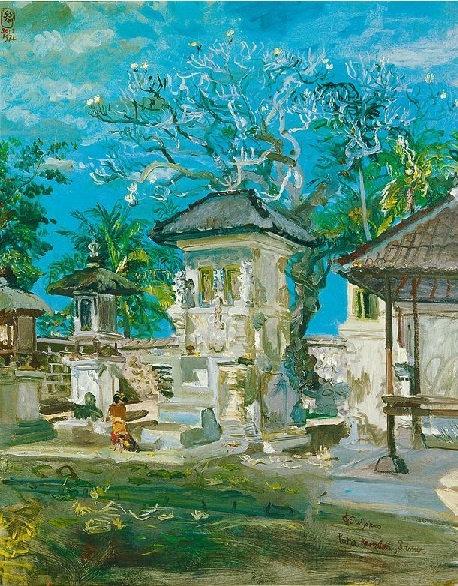 """Pura Kembaran, Sanur"" by S.Sudjojono"