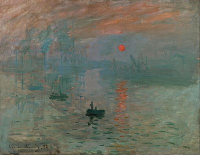 lukisan Claude Monet , Impression, Sunrise