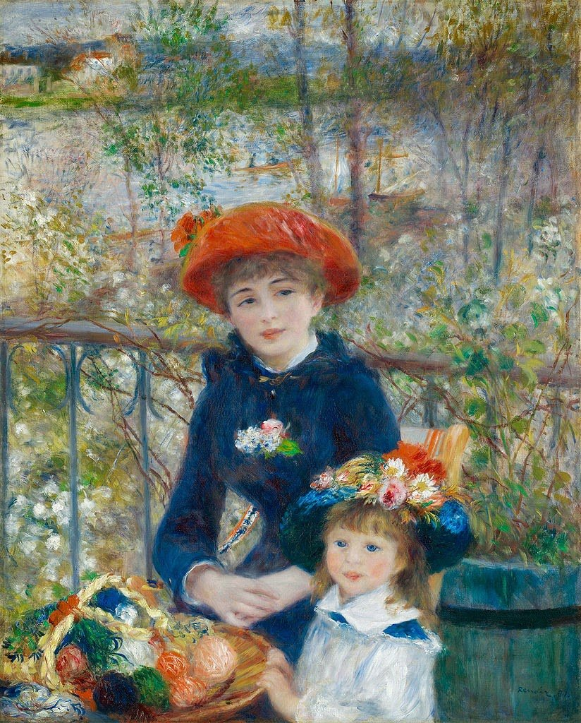 Pierre-Auguste Renoir, Two Sisters, 100 × 80 cm, oil on canvas, 1881, Art Institute of Chicago