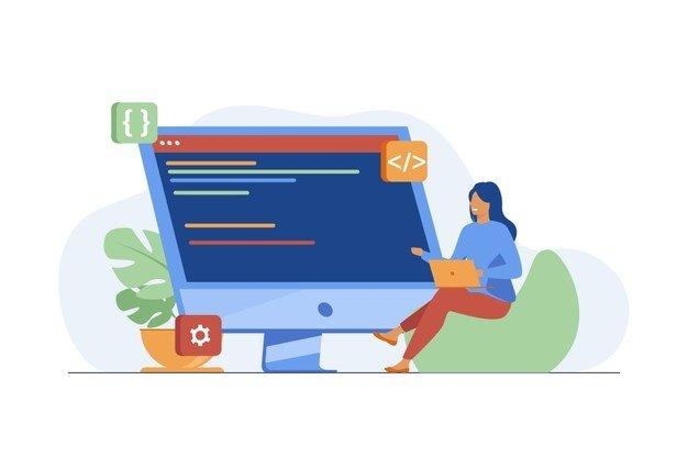 young-tiny-girl-sitting-coding-via-laptop-computer-programmer-code-flat-vector-illustration-it-digital-technology_74855-8751