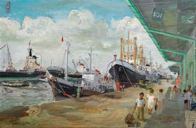 """""""Pelabuhan Tanjung Priok"""" by S.Sudjojono"""