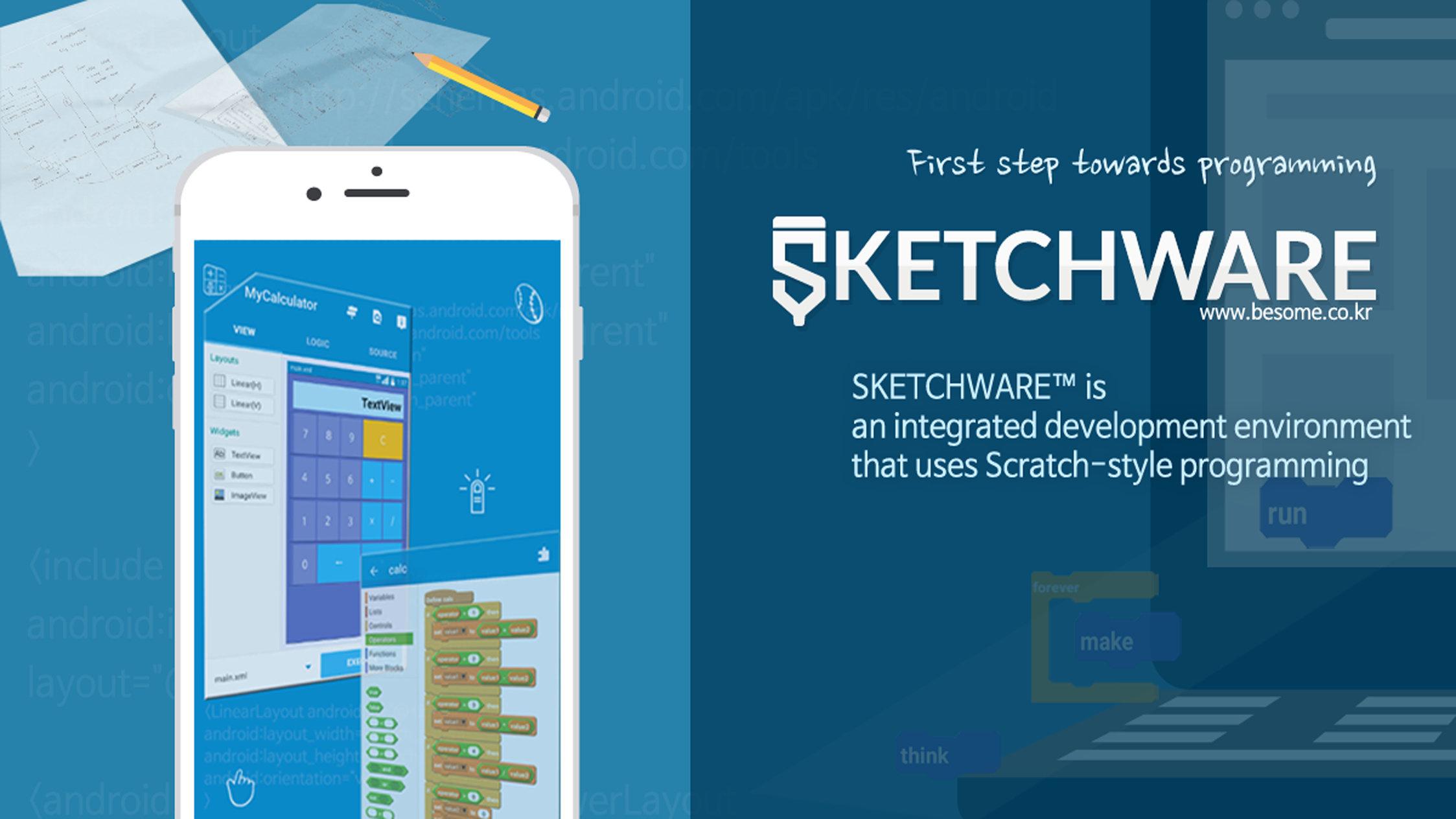 Sketchware adalah integrated development environment IDE yang terinspirasi dari bahasa Scratch yang memungkinkan Anda mengembangkan mengkompilasi