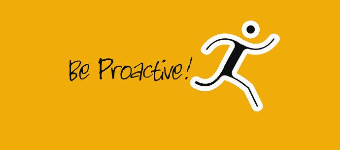 Bersikap proaktif