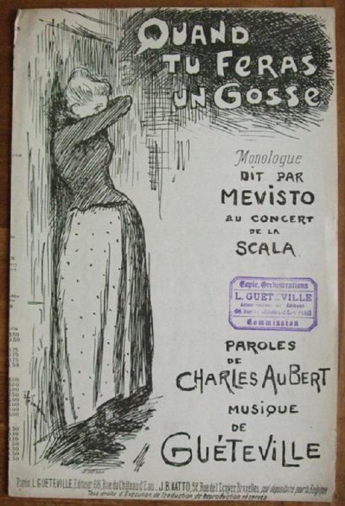 Quand Tu Feras Un Gosse, Theophile Steinlen, 1890