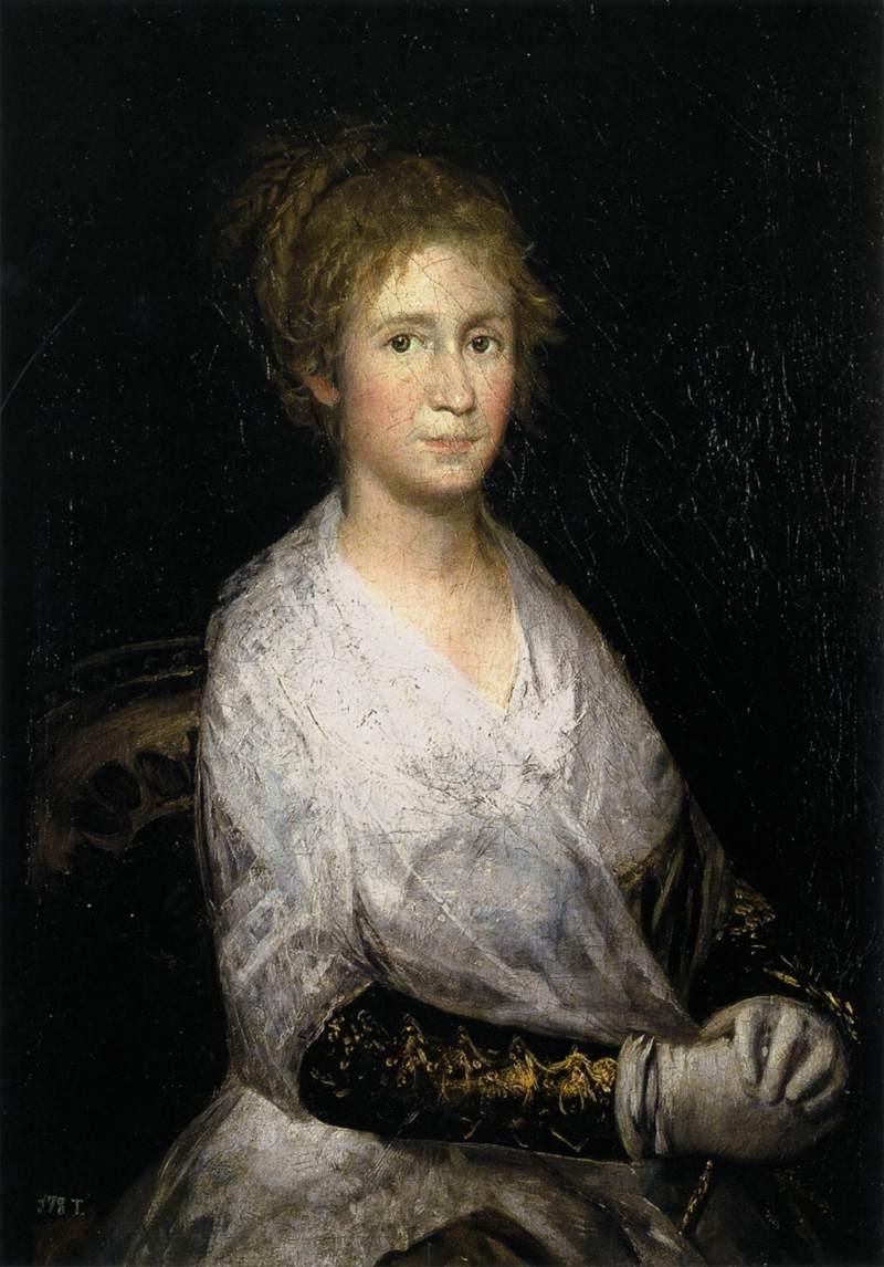 Francisco Goya, Portrait of Josefa Bayeu, 81 × 56 cm, 1798