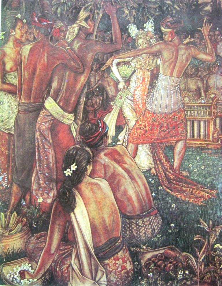 Bonnet, Joget, water color and crayon on paper, 139cm X 111cm-Netherland-Koleksi Bung Karno