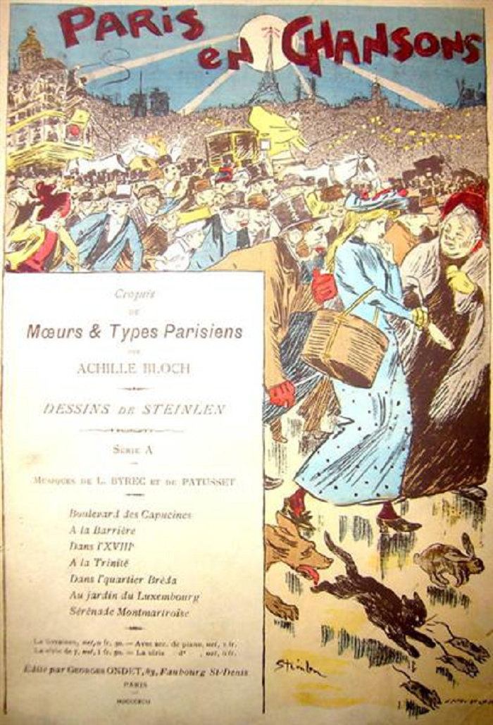 Paris En Chansons, Theophile Steinlen, 1892