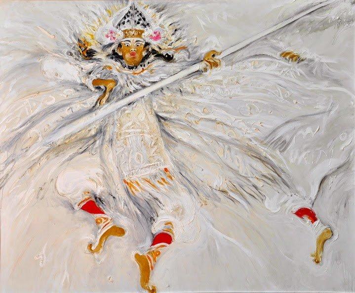 Baris, The Warior- The Energy of Love And Peace, Srihadi Soedarsono , Oil on canvas, 2012