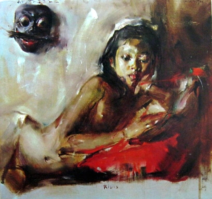 Antonio Blanco, Ridis, Oil on Canvas, 46cm X 43cm-koleksi bung karno