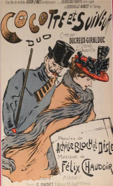 La Fille de Gennevilliers, Theophile Steinlen, 1893
