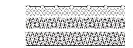 Combined gillnets-trammel nets