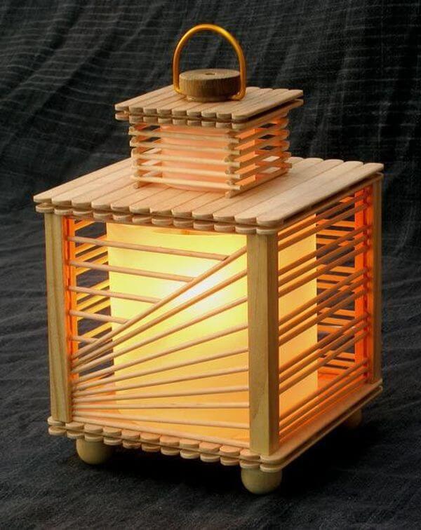Lampu Hias Dari Stik Es Krim Seni Kriya Dictio Community