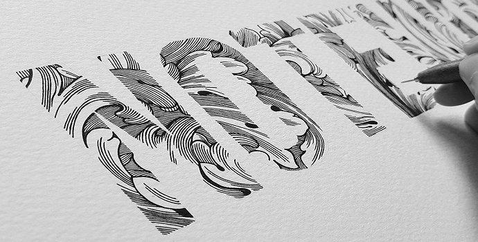 desain Hand lettering