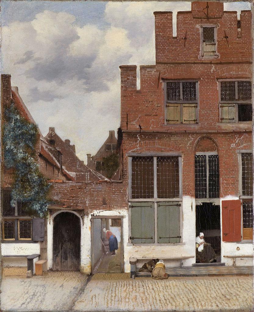 5 cm, oil on canvas, 1657-1658, at Rijks museum, Amsterdam