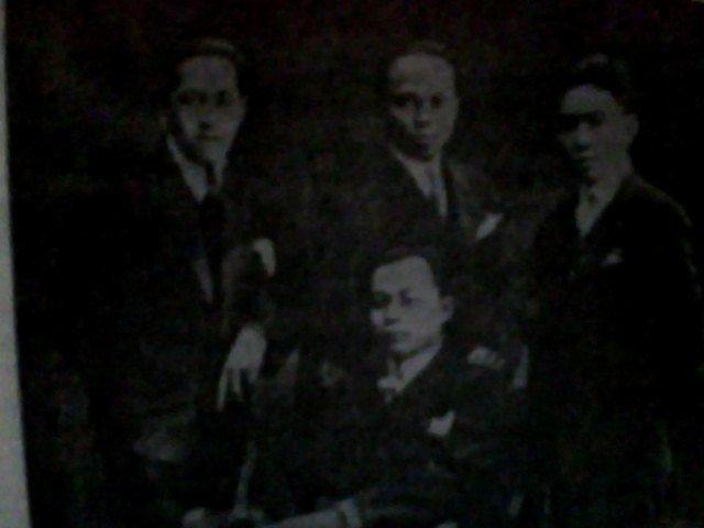 Mohammad Hatta bersama Abdulmadjid Djojohadiningrat, Nazir Datuk Pamuntjak, dan Ali Sastroamidjojo