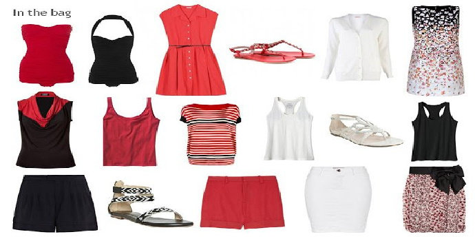 black and white atau red and white outfit