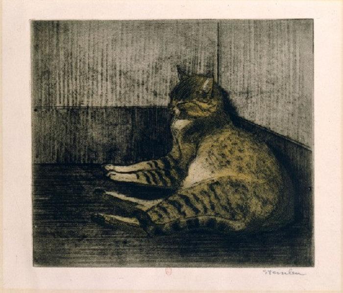 Cat Sleeping In A Corner, 1902