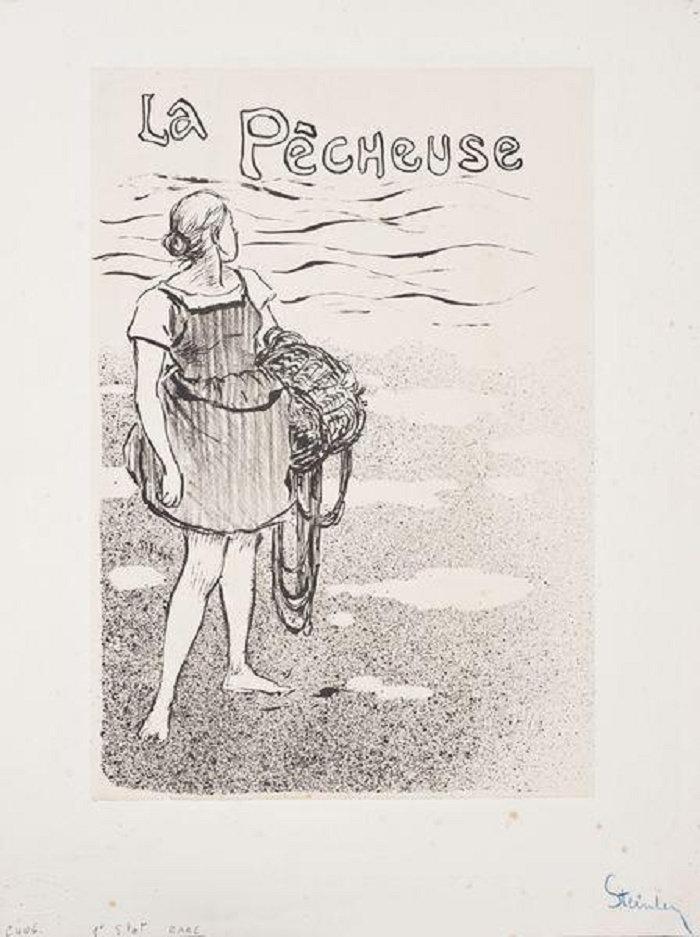 La Pecheuse, Theophile Steinlen, 1892